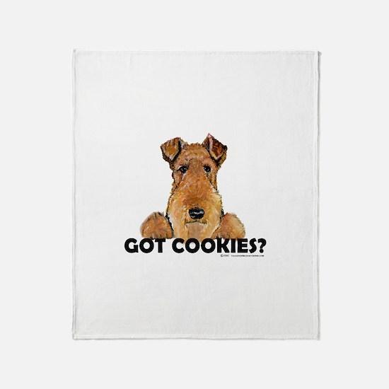 Lakeland Terrier Cookies Throw Blanket