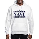 Proud navy brother Light Hoodies