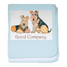 Lakeland Terriers - Good Comp baby blanket