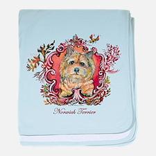 Norwich Terrier Vintage baby blanket