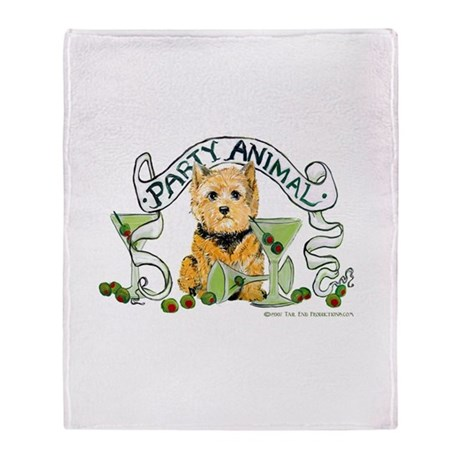 Norwich Terrier Martini Throw Blanket