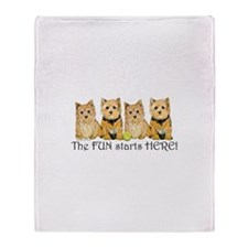 Norwich Terrier Fun Throw Blanket