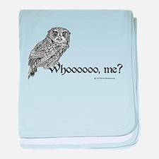 Who Owl baby blanket