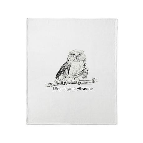 Owl Wildlife Wisdom Throw Blanket