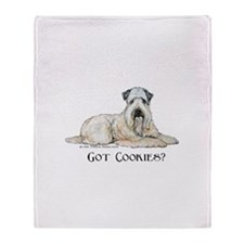 Wheaten Terriers Cookie Dogs Throw Blanket
