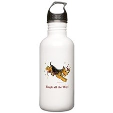 Welsh Terrier Holiday Dog! Water Bottle