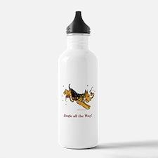 Welsh Terrier Holiday Dog! Water Bottle