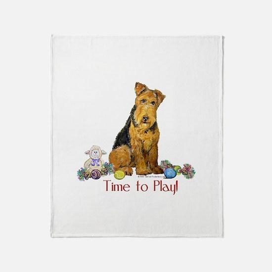 Welsh Terrier Playtime! Throw Blanket