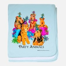 Welsh Terrier Party baby blanket