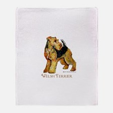 Welsh Terrier Design Throw Blanket