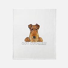 Welsh Terrier Cookies Throw Blanket