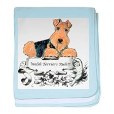Welsh Terriers Rule! baby blanket