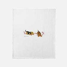 Cute Irish terrier Throw Blanket