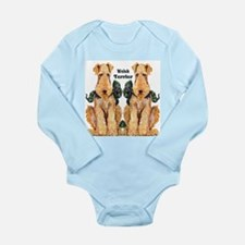 Welsh Terrier Long Sleeve Infant Bodysuit