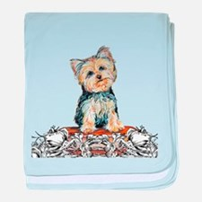 Yorkshire Terrier Small Dog baby blanket