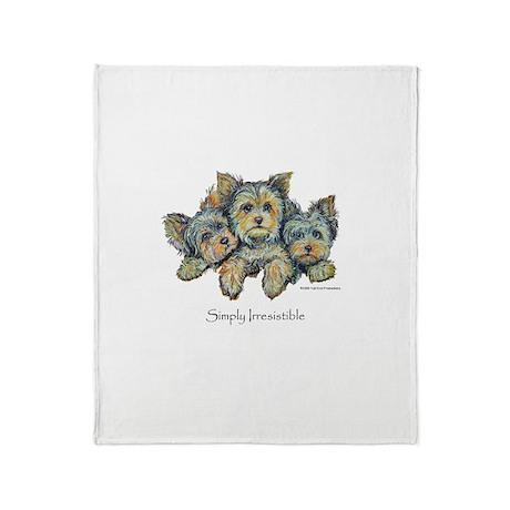 Yorkshire Terrier Puppies! Throw Blanket