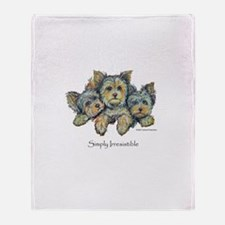 Yorkshire Terrier Puppies! Throw Blanket