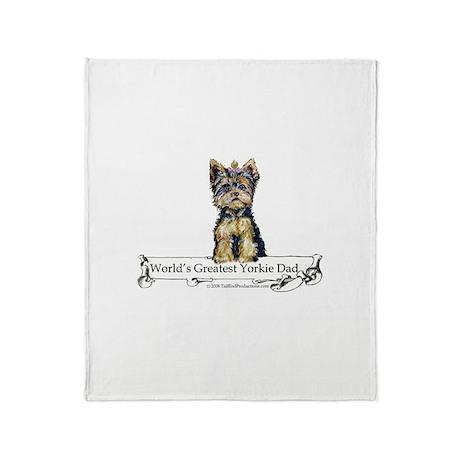 Yorkshire Terrier Dad! Throw Blanket
