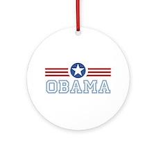 Obama Star Stripes Ornament (Round)