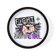 Fight Like A Girl Lupus Wall Clock