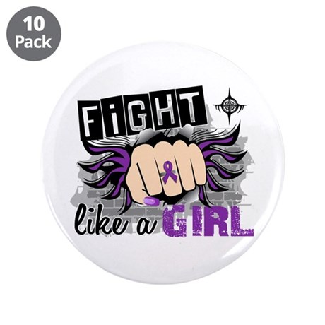 """Fight Like A Girl Lupus 3.5"""" Button (10 pack)"""
