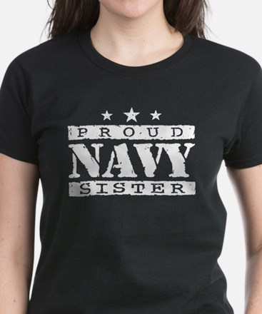 Proud Navy Sister Women's Dark T-Shirt