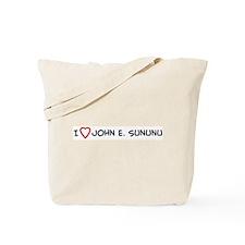 I Love John E. Sununu Tote Bag