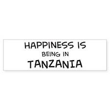 Happiness is Tanzania Bumper Bumper Sticker