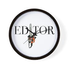 Editor—Chainsaw Wall Clock