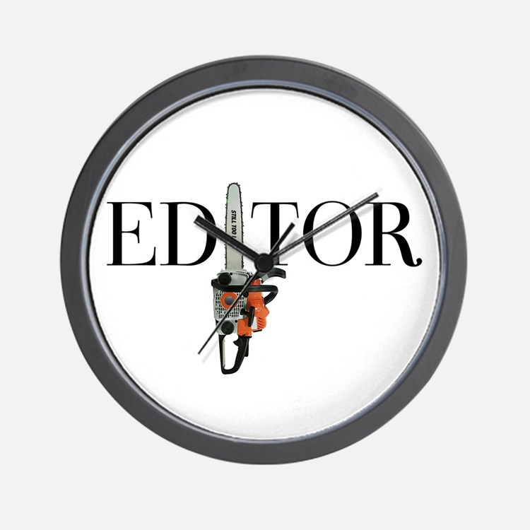 Editor—Chainsaw Wall Clock