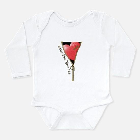 Zipper Design 2 Long Sleeve Infant Bodysuit