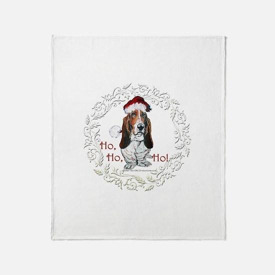 Basset Hound Christmas Throw Blanket