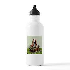 Christmas Basset Holiday Dog Water Bottle