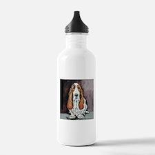 Basset Hound Portrait Water Bottle