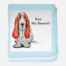 Kiss My Bassett!! baby blanket