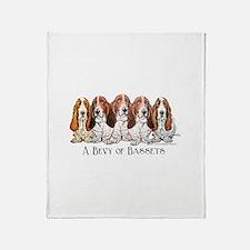 Basset Hound Bevy Throw Blanket