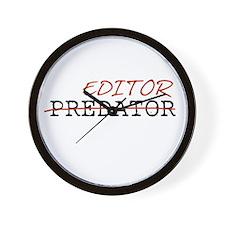 Predator—Editor Wall Clock