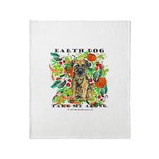 Border Terrier Environmental Throw Blanket