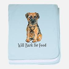 Border Terrier Bark baby blanket