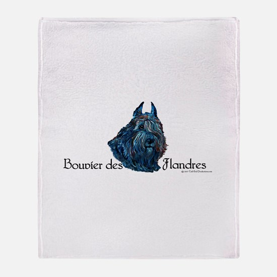 Bouvier des Flanders too Throw Blanket