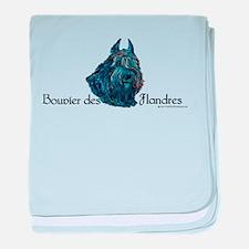 Bouvier des Flanders too baby blanket