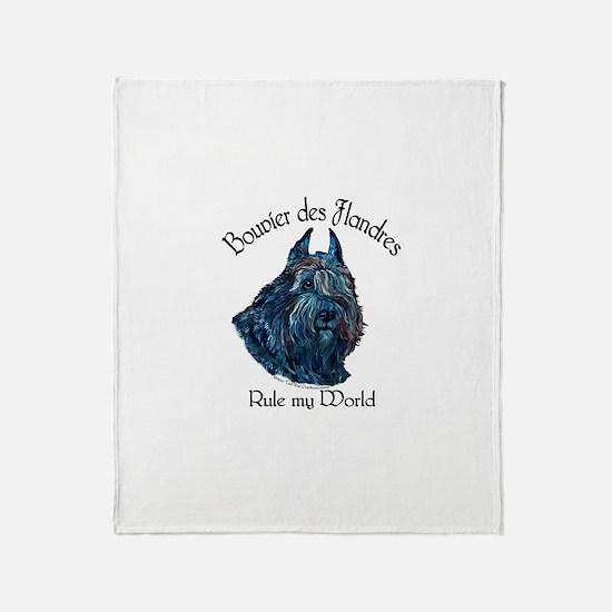 Bouvier des Flandres Rule Throw Blanket