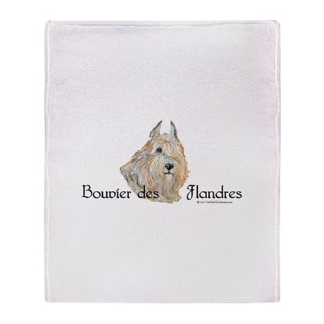 Bouvier Sweetie Throw Blanket