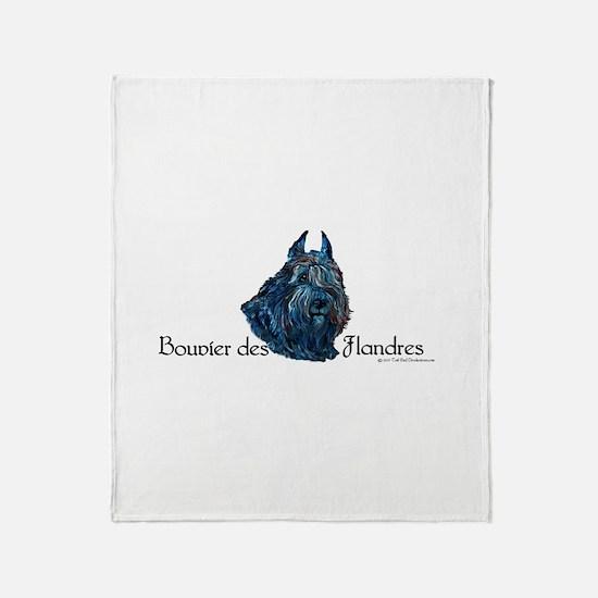 Bouvier des Flandres Black Throw Blanket