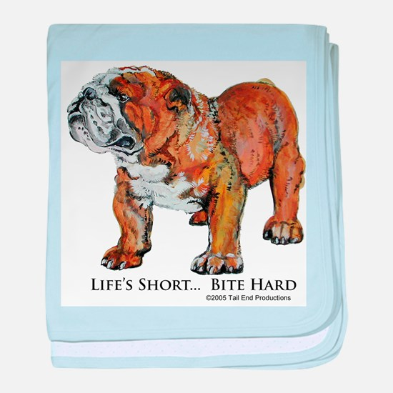 Bulldogs Life Motto baby blanket