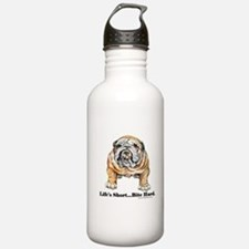 Bulldog Bite for Dog lovers Water Bottle