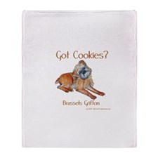Brussels Griffon Cookies! Throw Blanket