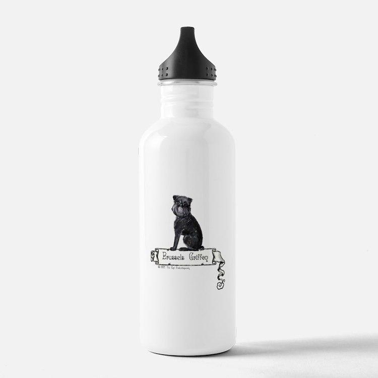 Brussels Griffon Banner Water Bottle