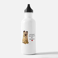Brussels Griffon Heart Water Bottle