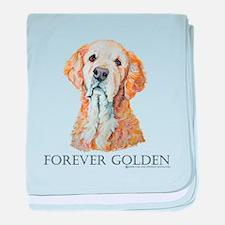 Golden Retrievers Hunting Dog baby blanket